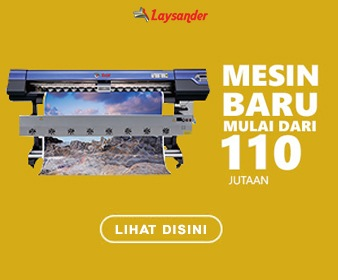 mesin digital printing kain laysander murah indoor outdoor uv flatbed cutting sticker